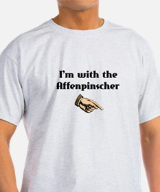 I'm with the Affenpinscher T-Shirt