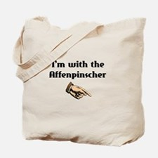 I'm with the Affenpinscher Tote Bag
