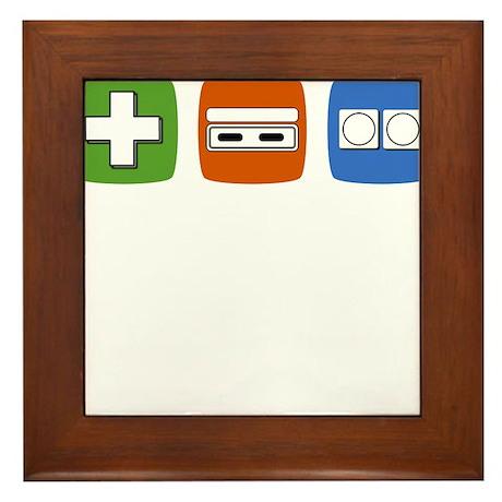 Old-School NES Controller Lineart Framed Tile