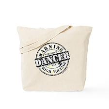 Warning Dancer High Voltage Tote Bag