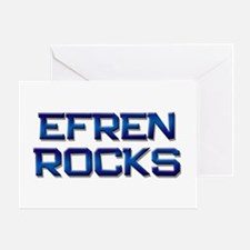 efren rocks Greeting Card