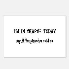I'm in Charge Affenpinscher Postcards (Package of