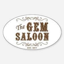 The Gem Saloon Oval Decal