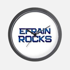 efrain rocks Wall Clock