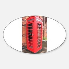 red phone call box london Decal