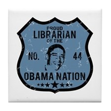 Librarian Obama Nation Tile Coaster