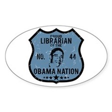 Librarian Obama Nation Oval Decal