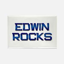 edwin rocks Rectangle Magnet
