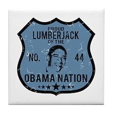 Lumberjack Obama Nation Tile Coaster