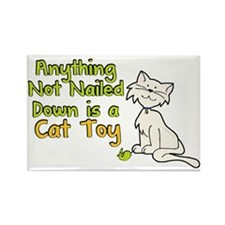 Cat Toy Humor Rectangle Magnet
