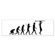 Surf Evolution Bumper Car Sticker