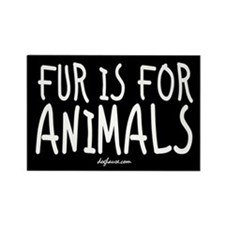 Fur Is For Animals Rectangle Magnet