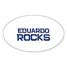 eduardo rocks Oval Decal