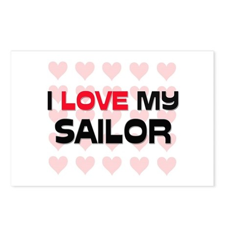 I Love My Sailor Postcards (Package of 8)