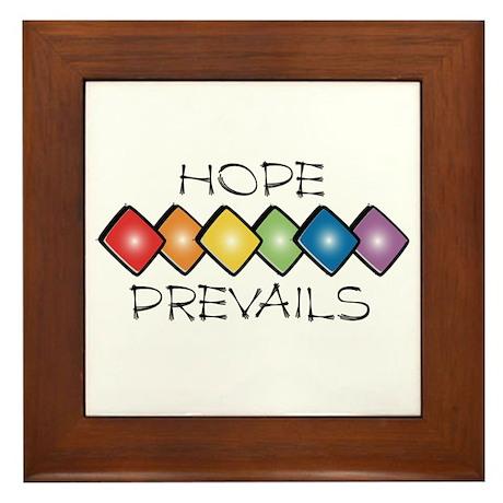 Hope Prevails Framed Tile