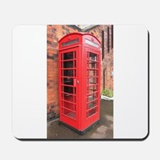 red phone call box london Mousepad
