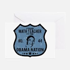 Math Teacher Obama Nation Greeting Cards (Pk of 10