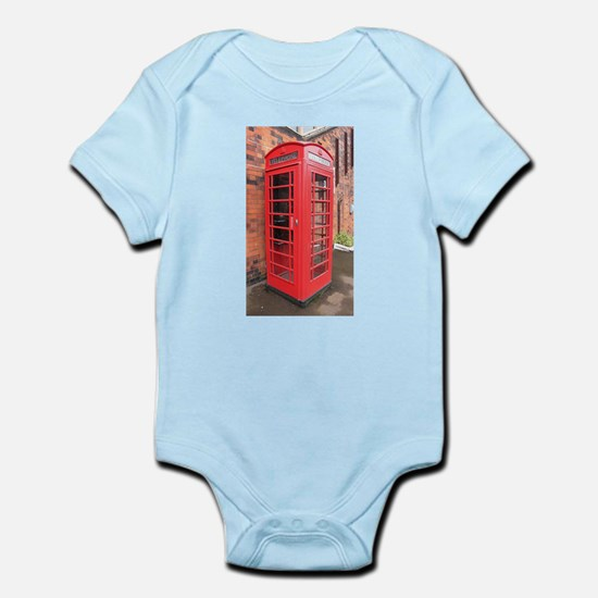 red phone call box london Body Suit