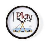 I Play Hockey Wall Clock