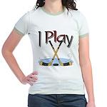 I Play Hockey Jr. Ringer T-Shirt