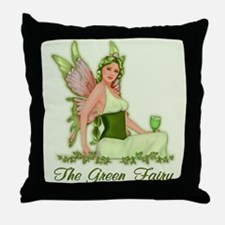 Absinthe - The Green Fairy Throw Pillow
