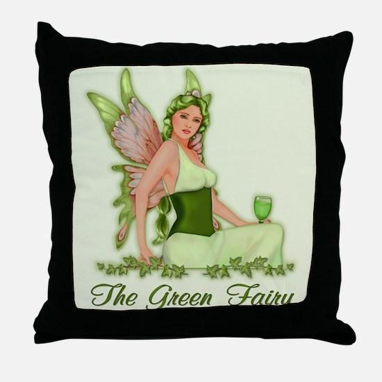 Absinthe - The Green Fairy Throw Pillow