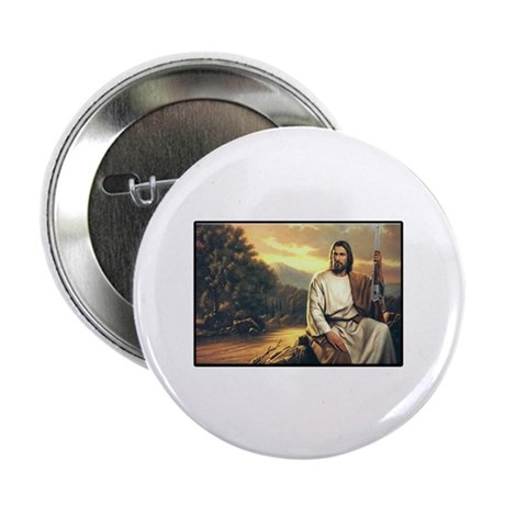 """Jesus Loves His Winchester 94 2.25"""" Button (10 pac"""