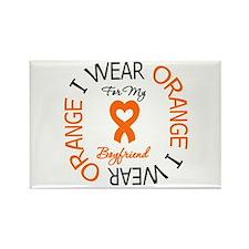 I Wear Orange Boyfriend Rectangle Magnet