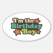 I'm The Birthday Boy Oval Decal