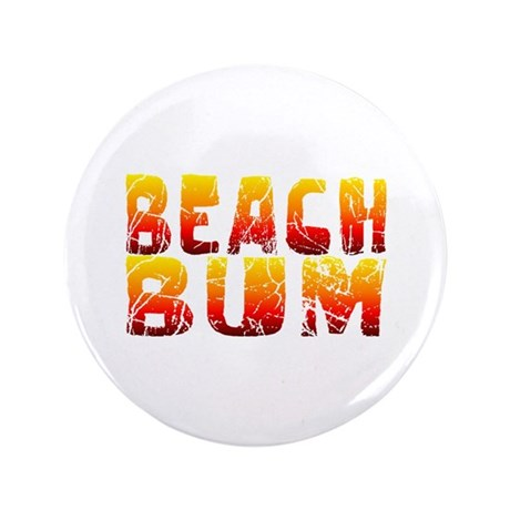 "Beach Bum 3.5"" Button"