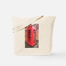 red phone call box london Tote Bag