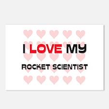 I Love My Rocket Scientist Postcards (Package of 8