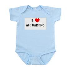 I LOVE ALEXANDRO Infant Creeper
