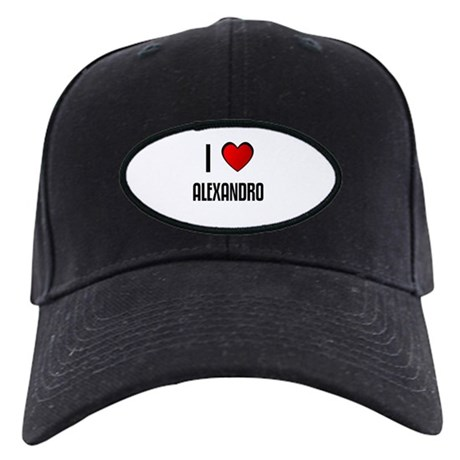 I LOVE ALEXANDRO Black Cap