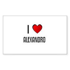 I LOVE ALEXANDRO Rectangle Decal