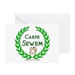 Carpe Sewem Greeting Cards (Pk of 10)