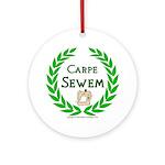 Carpe Sewem Ornament (Round)