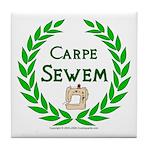 Carpe Sewem Tile Coaster