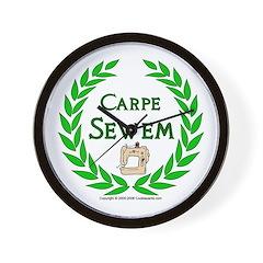 Carpe Sewem Wall Clock
