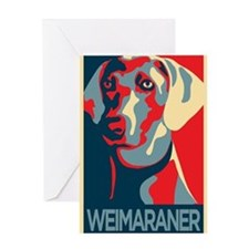 Vote Weimaraner! Greeting Card
