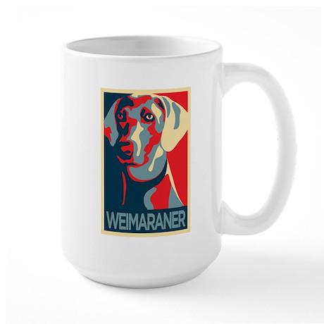 Vote Weimaraner! Large Mug