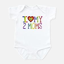 I <3 My 2 Moms Infant Bodysuit