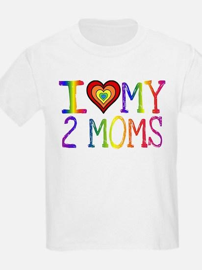 I <3 My 2 Moms T-Shirt