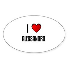 I LOVE ALESSANDRO Oval Decal