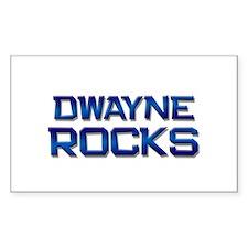 dwayne rocks Rectangle Decal