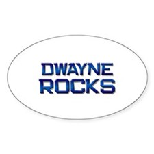 dwayne rocks Oval Decal