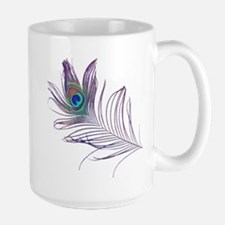 PEACOCK FEATHER Large Mug