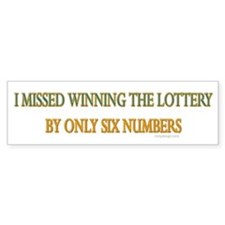 Funny Lottery Saying Bumper Car Sticker
