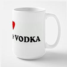 I Love HOT TUB & VODKA Mug