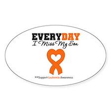 Leukemia MissMySon Oval Sticker (10 pk)